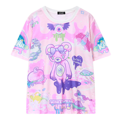 Kawaii Pastel Printed T-Shirt