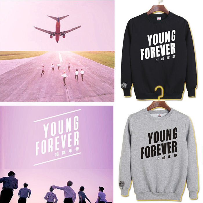 BTS  K-pop Young Forever Oversized Sweatshirt