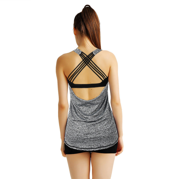 Going Out Strappy X-Back Tank - sofyee
