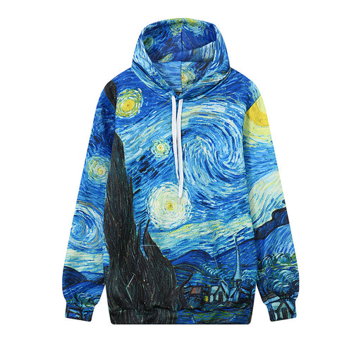 Van Gogh Starring Night Graphic Aesthetic Hoodie