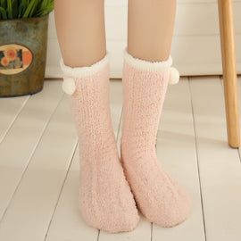 Poppy Ball Kawaii Pink Tumblr Lolita Cutie Socks