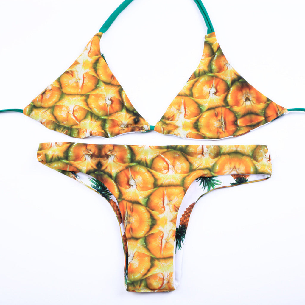 Echo Of You Pineaple Bikini Set - sofyee