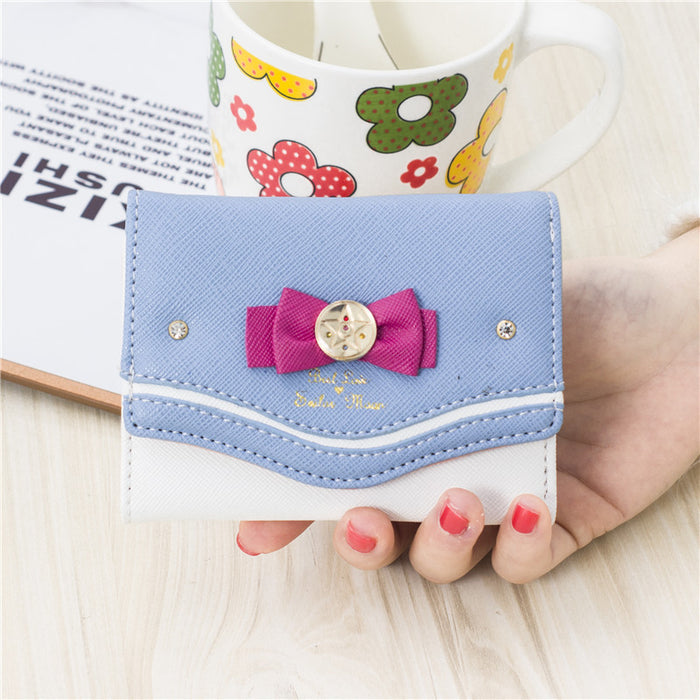 Lovely Luna Love Sailor Moon Cat Coin Leather Purse