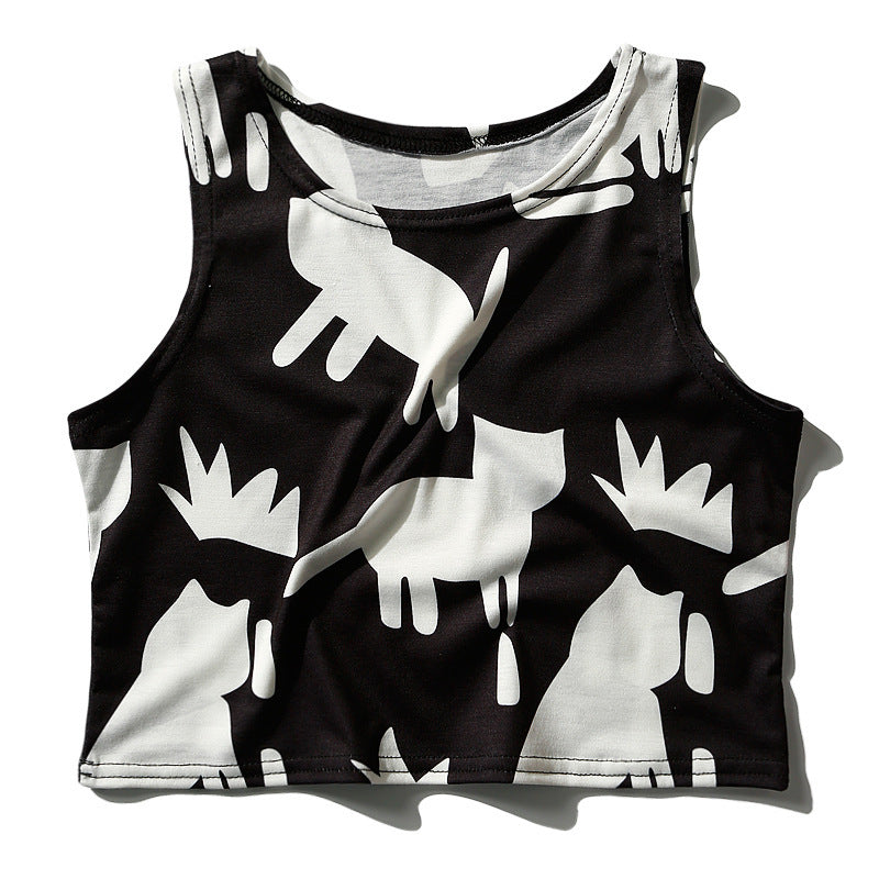 Black Sheep Graphic Cropped Top
