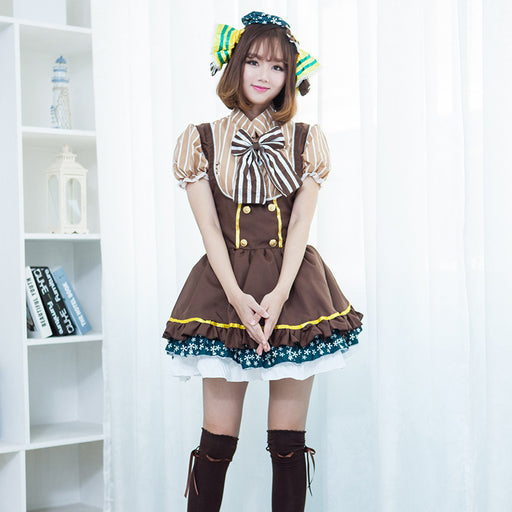 Anime Love Live Lolita Bow Tie Maid Dress