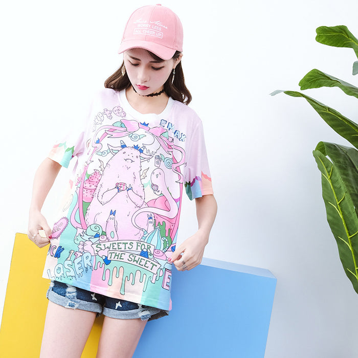 Pastel Kawaii Anime Japanese Aesthetic Pink Graphic Tee