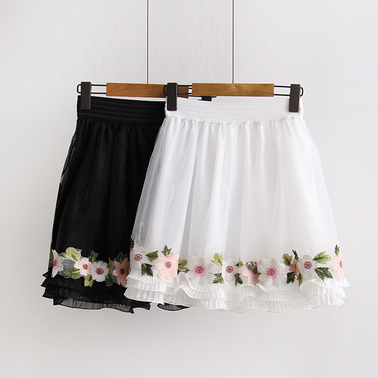Kawaii Peach Flower Romantic Skirt