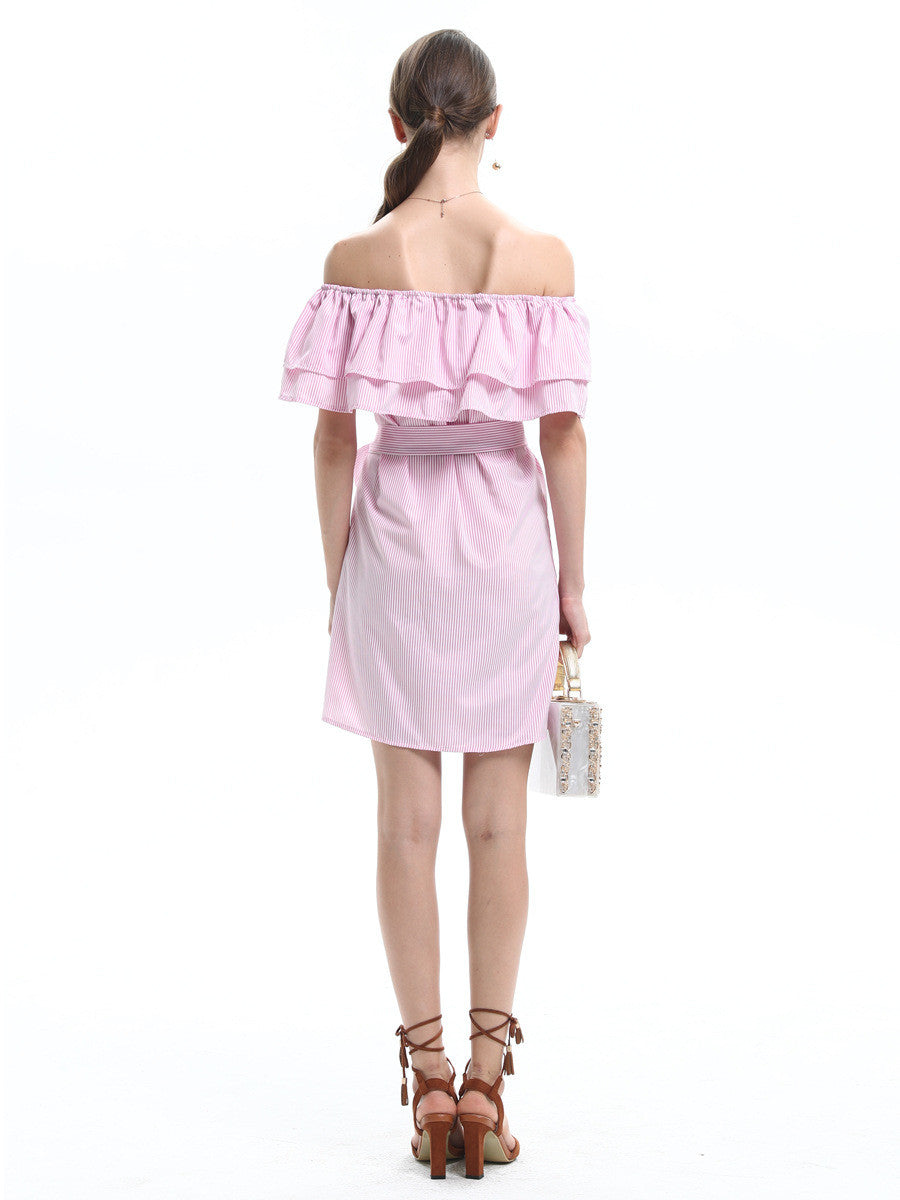 Weak Pink Think Pink Off The Shoulder Layered Dress - sofyee