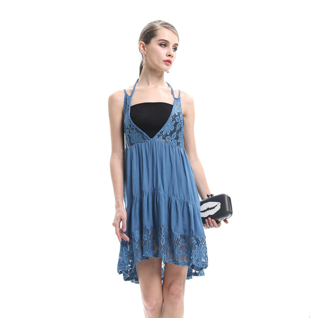 Embrace Summer Reversible Crochet Hollow Out Slip Dress - sofyee