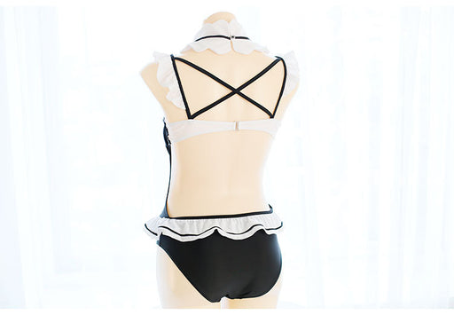 Rem Re Zero Kawaii Bow Cosplay Costume Swimsuit