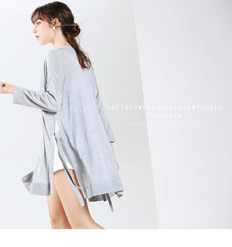 Pure And Easy Button Up Fine-Knit Cardigan - sofyee