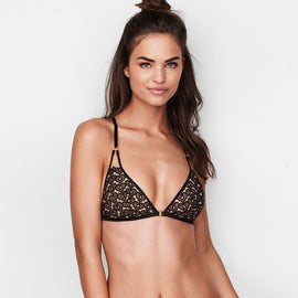 Sweet Heart T-Back Front Close Triangle Bralette - sofyee