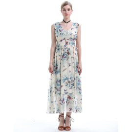 Dreamy Place With Butterfly Flying Around Maxi Dress - sofyee