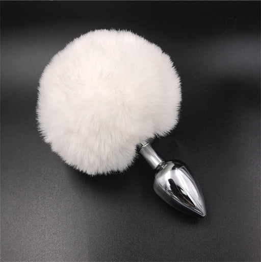 Sexy cute anime removable black real furry cosplay bunny butt plug tail