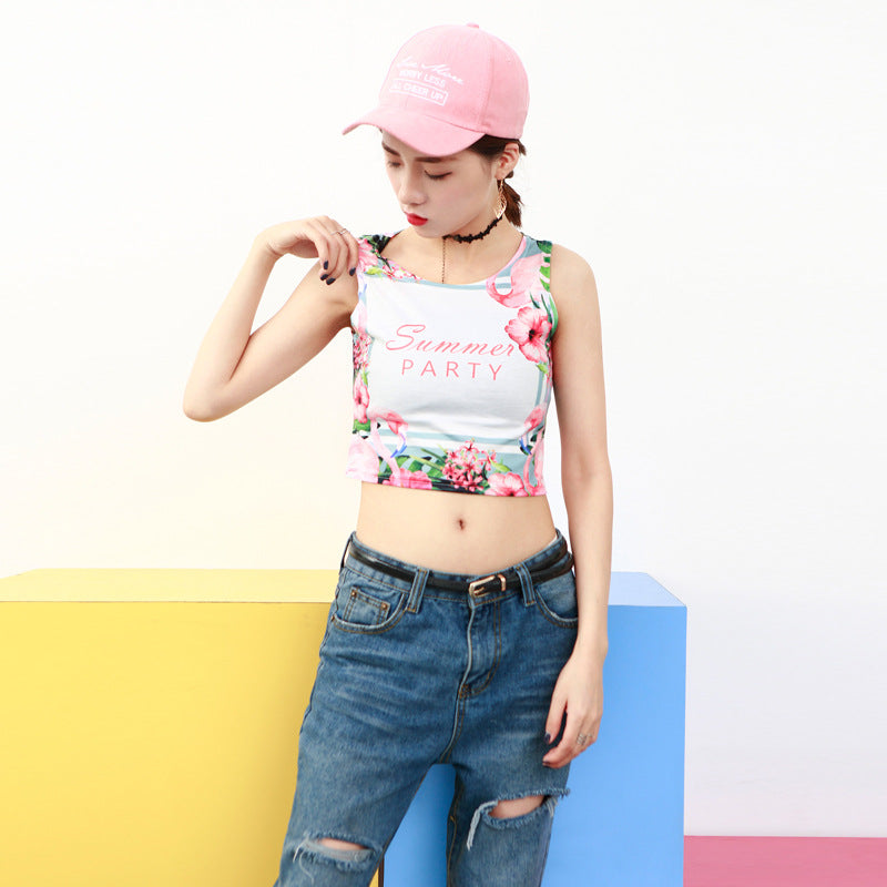 Fruit Hot Red Water lemon Graphic Cropped Top