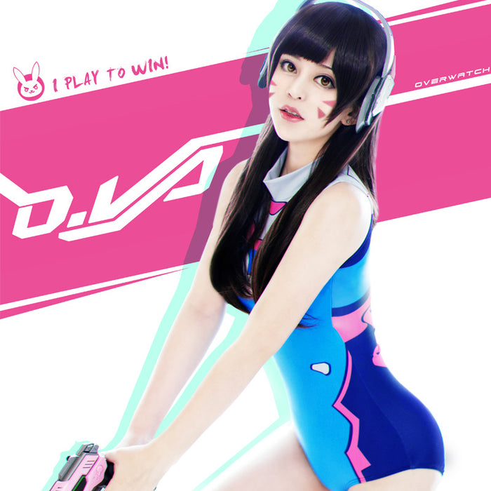 Anime Kawaii D.VA Overwatch Cosplay Cute One Piece Swimsuit