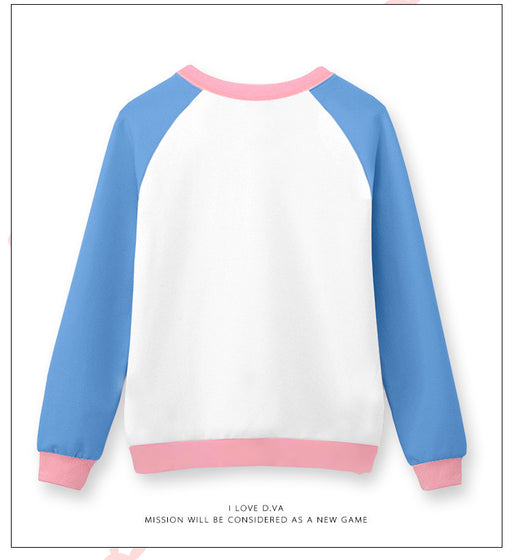 OW Overwatch DVA Pink Patched Hoodie