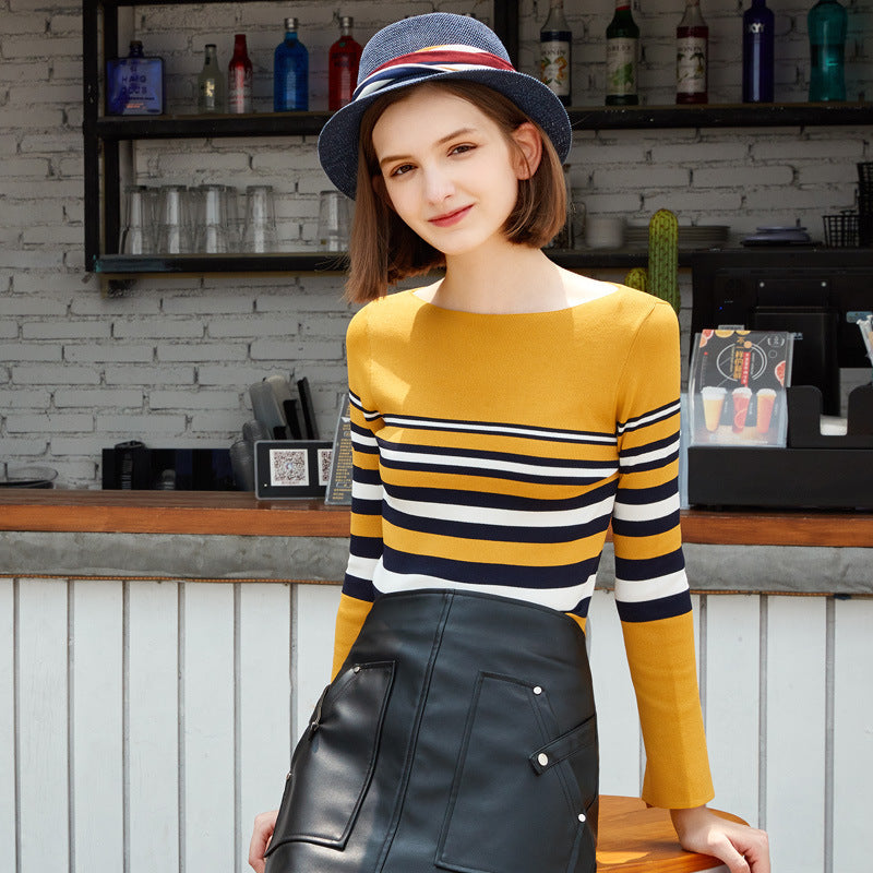 Bell Sleeves Striped Top