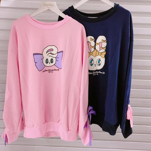 Bow Tie Sailor Moon Pastel Kawaii Aesthetic Pink Long Sleeves T-Shirt