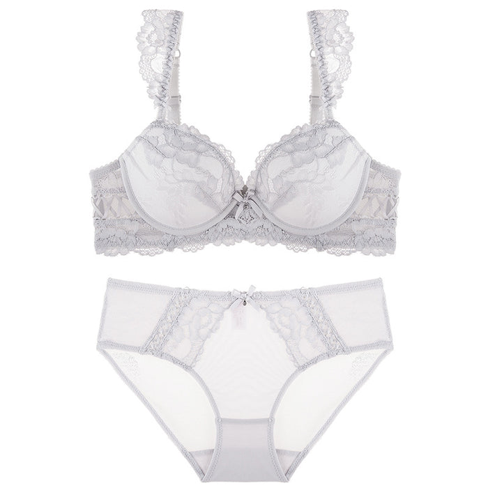 White Lace To Love Cute Sweet Bras And Panty Set