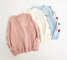Sweet Heart Pastel Kawaii Aesthetic Pink Sweater