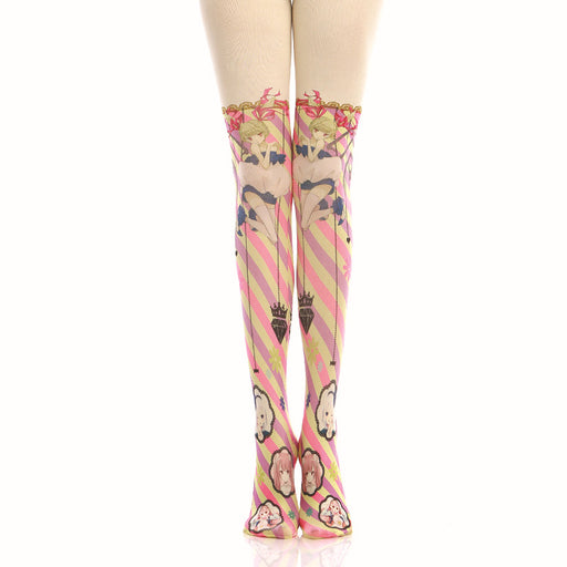 Girly Anime Bling Harajuku Thigh High Tights