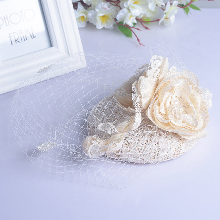 New Hot Selling Handmade Hemp Flowers Headdress Topper Wedding Dress Accessories Veil Bridal Jewelry Birdcage Veil, Bridal Veil Formal hat