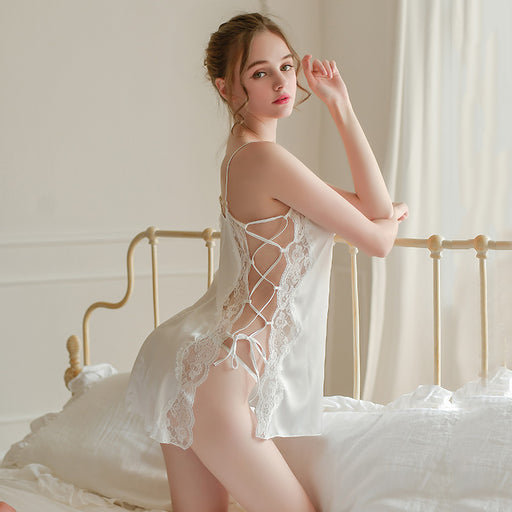 Lacy Flower Eyelash Pretty Romance See Through Lace Baby Doll Set
