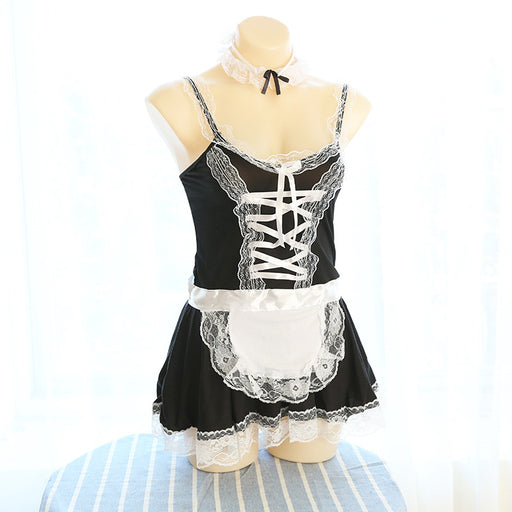 Anime Maid Kawaii Bow Neko Choker Cosplay Costume Dress