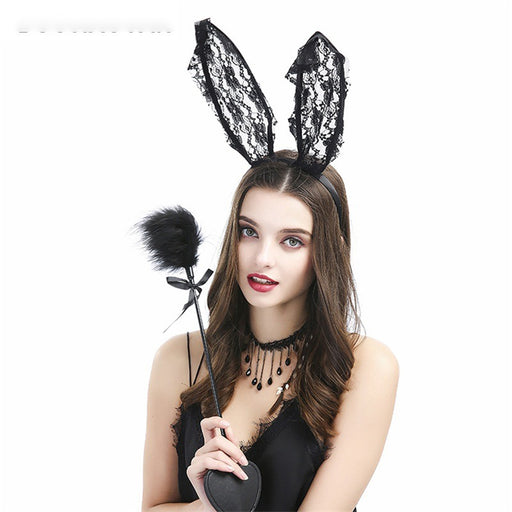 Sexy Lace Bunny Ears Headband Sexy Accessories