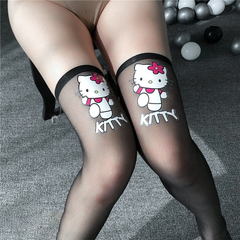 Japanese kawaii two-dimensional stockings over the knee socks