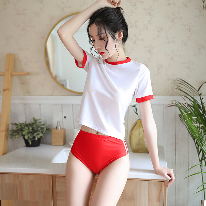 Kawaii Sexy package hip shorts uniform temptation dynamic gym suit suit