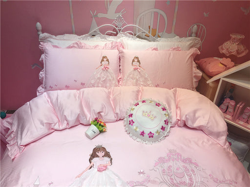Pastel Princess Bedding Sheet Pillow Case Set