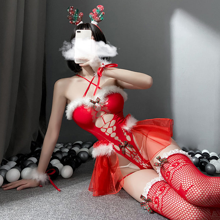 Sexy Christmas Elk Plush Sexy Lingerie