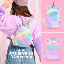 Unicorn Kawaii Pink Pastel Bling Rainbow Bag
