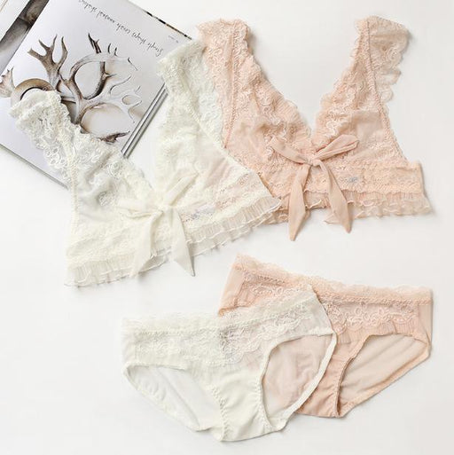 Happy Weekend Sheer Rose Pink Angel Cute Sweetie Baby Bralette Set