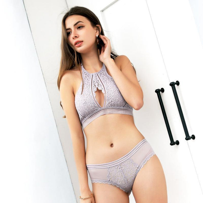 Sexy Halter Wireless Bralette & Panty Set