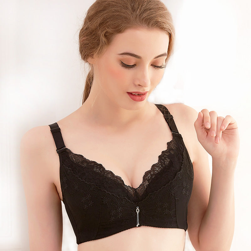 Love Me Like You Do Floral Lace Comfy Wirefree Bra