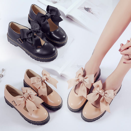 Kawaii Mori Bow Lolita Shoes