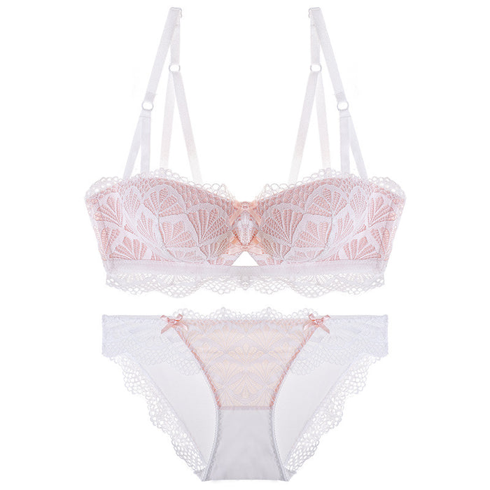 f6463933fd2 Summer Vibes Pink Lace Eyelash Sheer Bra Set — sofyee