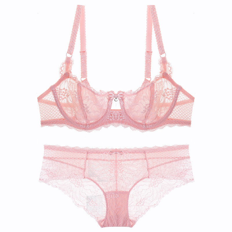 Pink Your Way Underwire Sheer See Through Bra