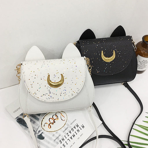 Kawaii Sailor Moon Luna Leather Shoulder Bag