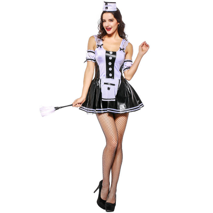 Lovely Bow Tie Angel Lolita Cosplay Waister Maid Dress