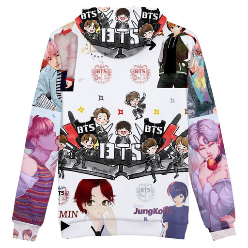 BTS  K-pop Young Forever Oversized Hoodie