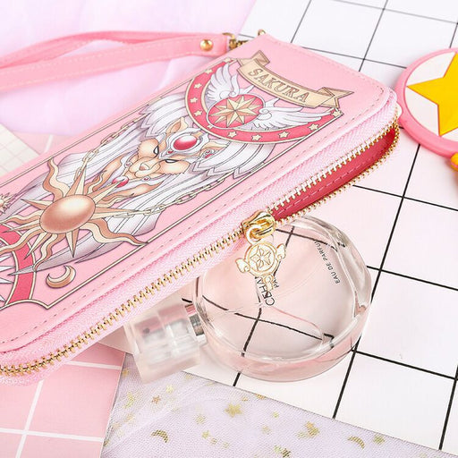Aesthetic Card Captor Sakura Magic Book Hand Bag Purse Can Pack Phone