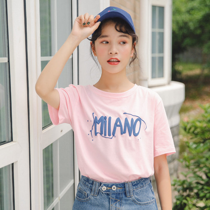 Strawberry Embroidery T-Shirt