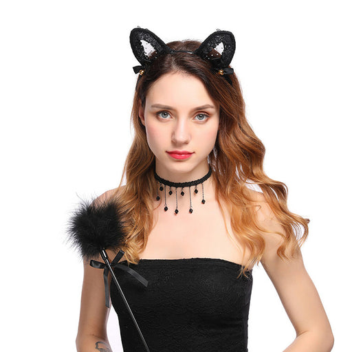 Kawaii sexy temptation lace cat ear headband
