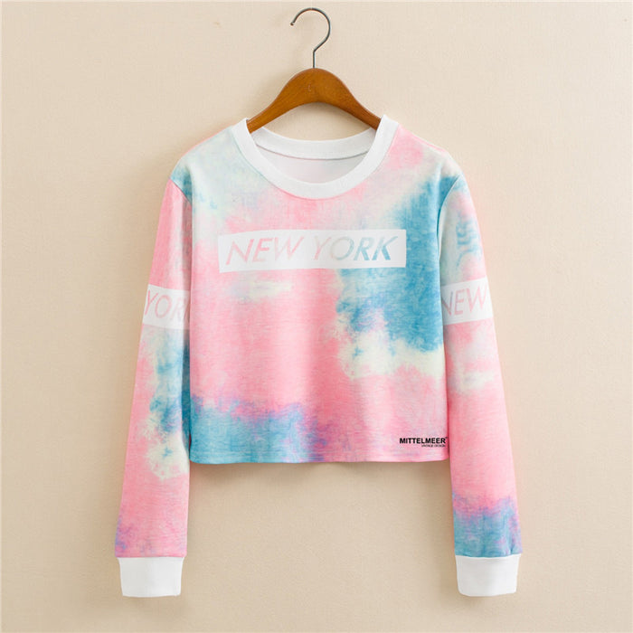 Pastel Anime Graphic Aesthetic Cropped Sweatshirt