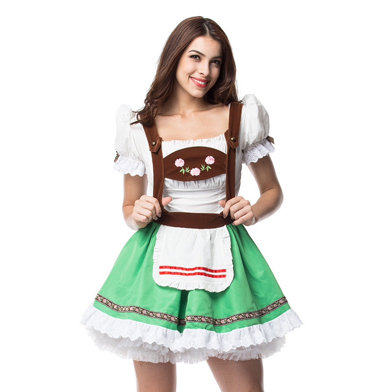 Rose Ruffle Kawaii Pastel Choker Japanese Apron Maid Dress