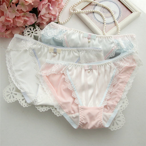 Eyelash Pearl Girly Kawaii Sweetie Heart Underwear Panty